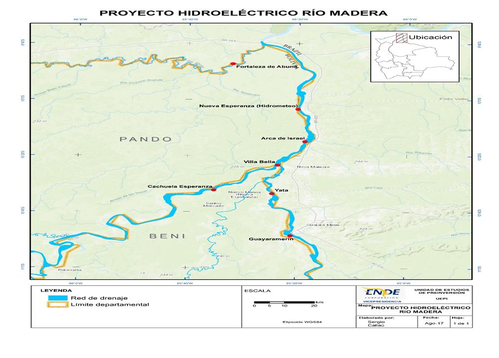 PROYECTO:  HIDROELÉCTRICO RIO MADERA