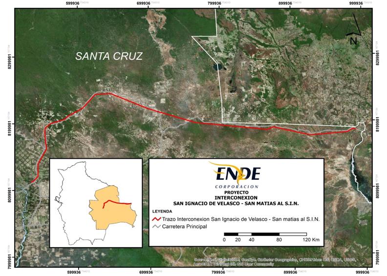 PROYECTO: CONST. LÍNEA DE TRANSMISIÓN INTERCONEXION SAN IGNACIO DE VELASCO Y SAN MATIAS AL SIN